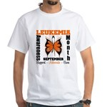 Leukemia Month Butterfly White T-Shirt