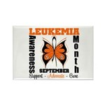 Leukemia Month Butterfly Rectangle Magnet (10 pack