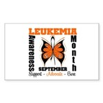 Leukemia Month Butterfly Rectangle Sticker 10 pk)