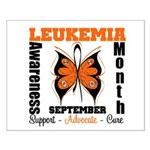 Leukemia Month Butterfly Small Poster