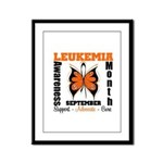 Leukemia Month Butterfly Framed Panel Print