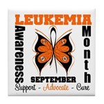 Leukemia Month Butterfly Tile Coaster