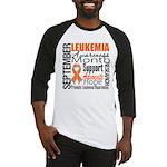 Leukemia Month - Sept Baseball Jersey