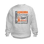 Leukemia Month - Sept Kids Sweatshirt