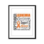 Leukemia Month - Sept Framed Panel Print