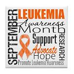Leukemia Month - Sept Tile Coaster