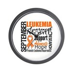 Leukemia Month - Sept Wall Clock