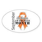 Leukemia Awareness Month v5 Oval Sticker (10 pk)