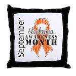 Leukemia Awareness Month v5 Throw Pillow