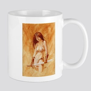 Red Sonja - She Devil TEXT Mugs