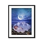 Sleeping Mermaid : Framed Panel Print