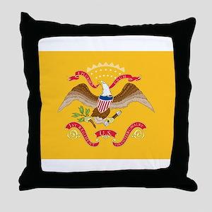 Rough Riders Flag Throw Pillow