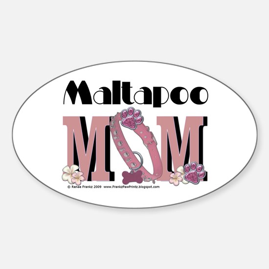 Maltapoo MOM Oval Decal