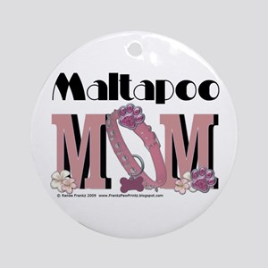 Maltapoo MOM Ornament (Round)