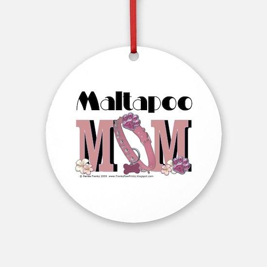 Maltapoo MOM Ornament (Round)