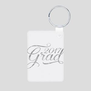 Silver Glitter Grad 2017Modern Typograph Keychains