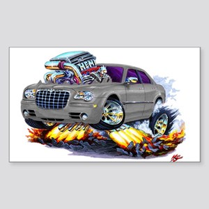 Chrysler 300 Silver/Grey Car Rectangle Sticker