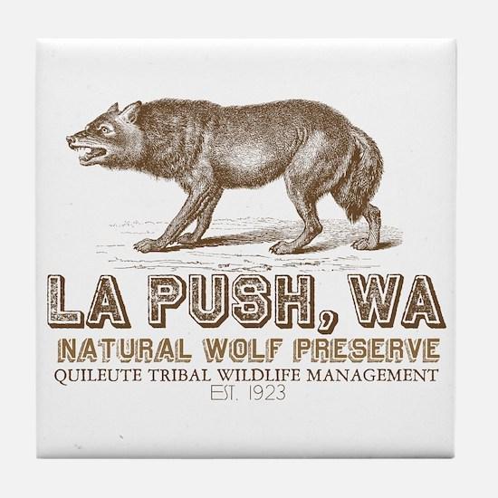 La Push Wolf Preserve Tile Coaster