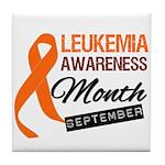 Leukemia Awareness Month v6 Tile Coaster