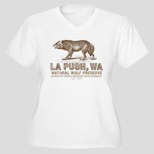 La Push Wolf Preserve Women's Plus Size V-Neck T-S