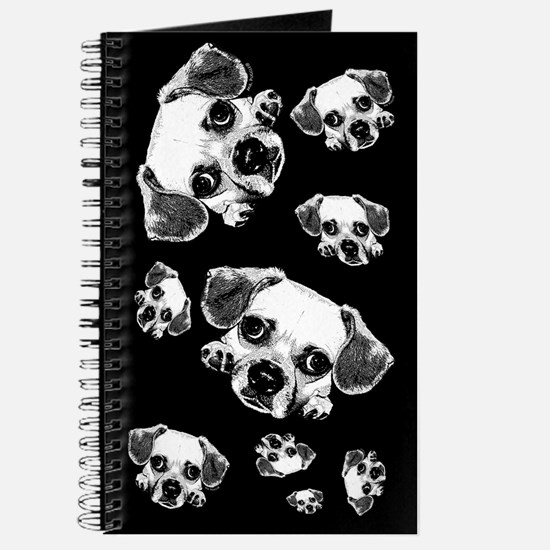 Black & Black Puggle Journal