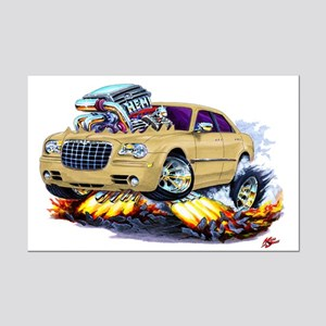 Chrysler 300 Biege Car Mini Poster Print