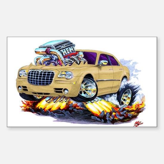 Chrysler 300 Biege Car Rectangle Decal
