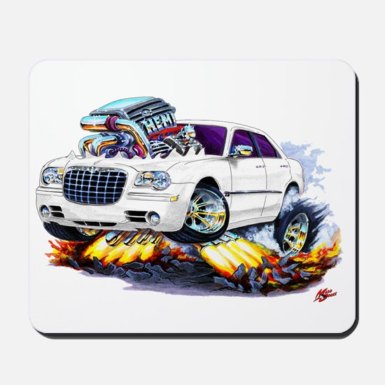 Chrysler 300 White Car Mousepad