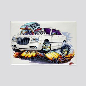Chrysler 300 White Car Rectangle Magnet