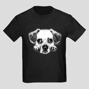 Black & Black Puggle Kids Dark T-Shirt