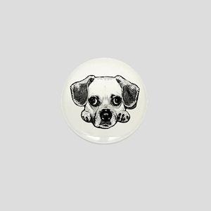 Black & White Puggle Mini Button