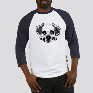 Black & White Puggle Baseball Jersey