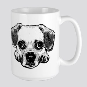 Black & White Puggle Large Mug