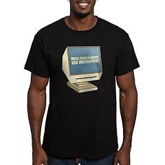 Use Microfiche Men's Fitted T-Shirt (dark)
