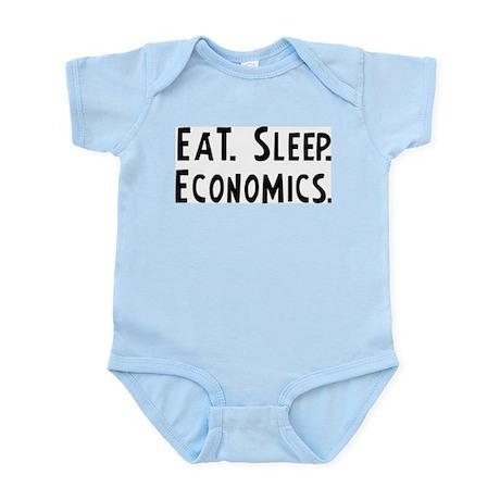 Eat, Sleep, Economics Infant Creeper