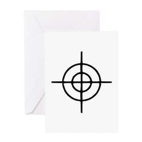 Crosshairs - Gun Greeting Card