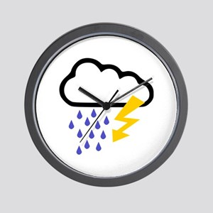 Thunderstorm - Weather Wall Clock
