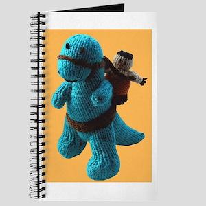 Funny Dinosaur & Caveman Unlined Journal