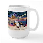 XmsStar/3 Horses (Ar) Large Mug