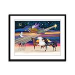 XmsStar/3 Horses (Ar) Framed Panel Print