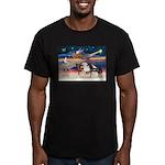 XmsStar/3 Horses (Ar) Men's Fitted T-Shirt (dark)