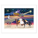 XmsStar/3 Horses (Ar) Small Poster