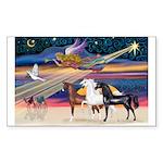 XmsStar/3 Horses (Ar) Rectangle Sticker 10 pk)