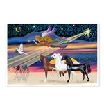 XmsStar/3 Horses (Ar) Postcards (Package of 8)