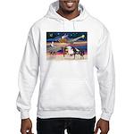 XmsStar/3 Horses (Ar) Hooded Sweatshirt
