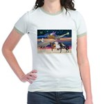 XmsStar/3 Horses (Ar) Jr. Ringer T-Shirt