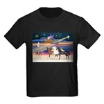 XmsStar/3 Horses (Ar) Kids Dark T-Shirt