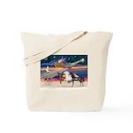 XmsStar/3 Horses (Ar) Tote Bag
