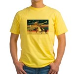 XmsStar/3 Horses (Ar) Yellow T-Shirt
