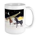 XmsDove/3 Horses (Ar) Large Mug